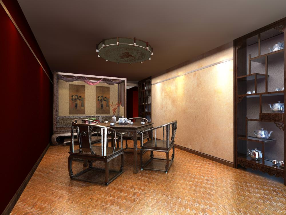 Classy dining room interior with showcase 3d model max for Dining room showcase