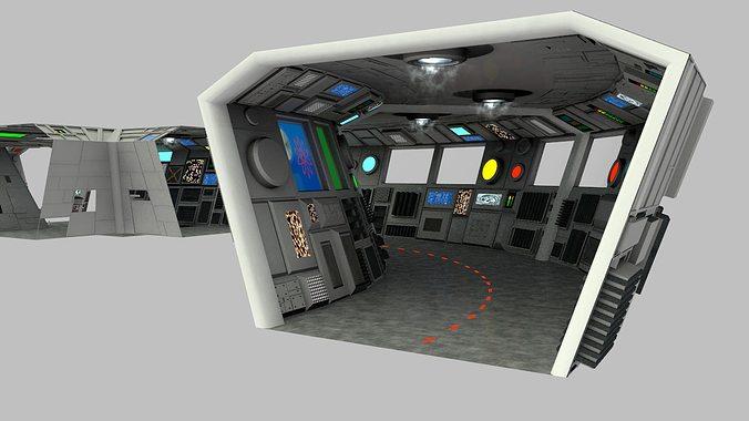 Sci Fi Corridors Construction Kit 3d Model Obj Lwo Lw Lws Mtl 10
