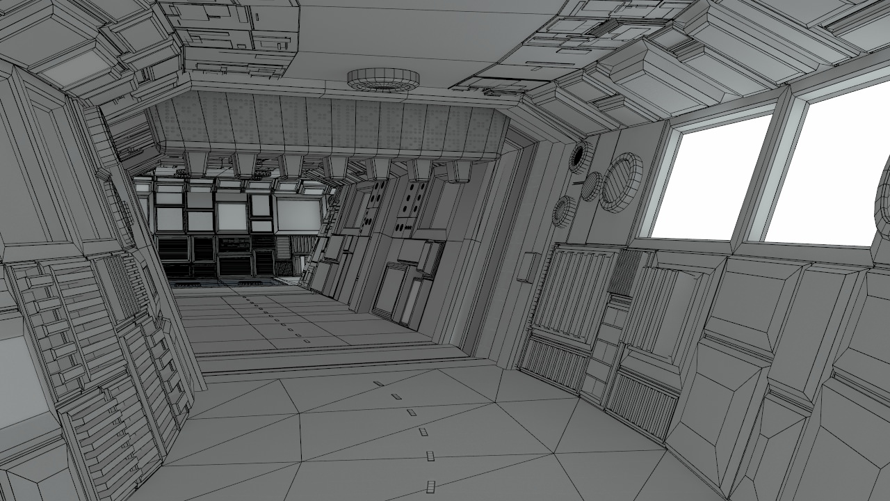 Sci Fi Corridors Construction Kit 3d Model Obj Lwo Lw Lws