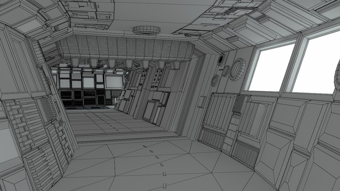 Sci Fi Corridors Construction Kit 3d Model Obj Lwo Lw