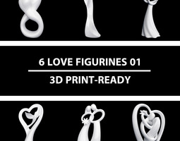6 Love Figurines 01 3D Model