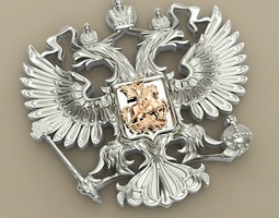 3d printable model two-headed eagle from the russian coat of arms
