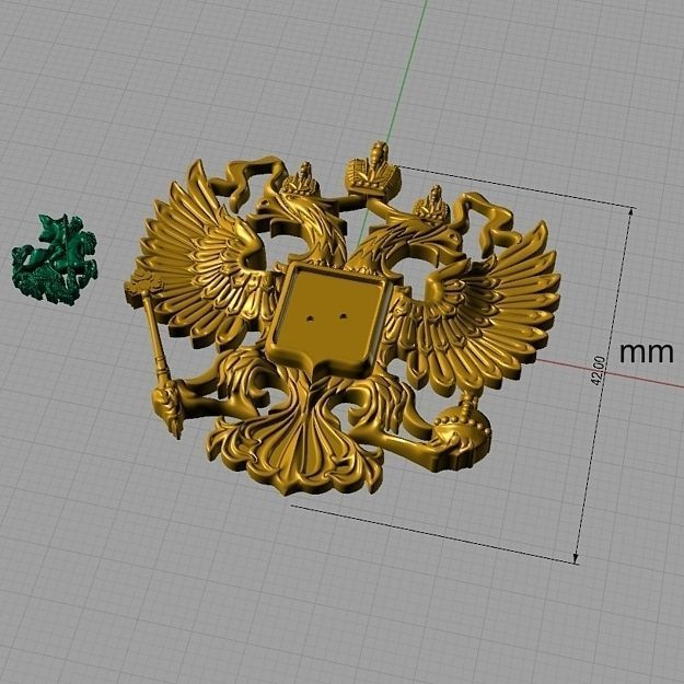 Two-headed eagle from the Russian coat of ... 3D Model 3D ...