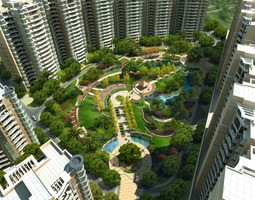 Houses and Complexes Around Park 3D model