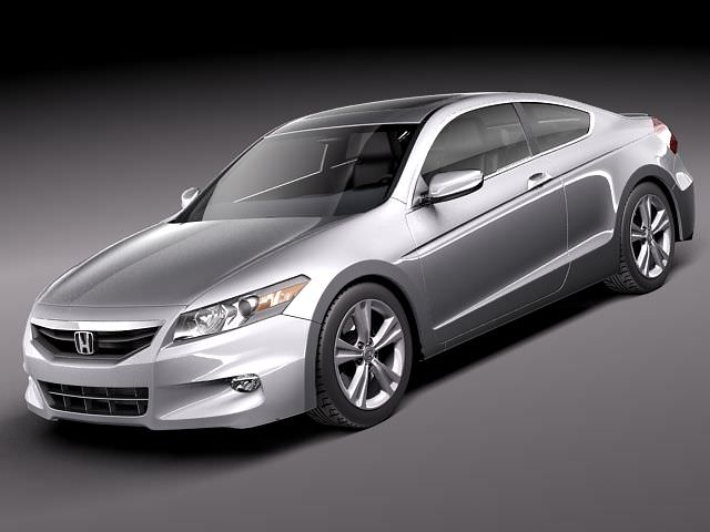 Honda Accord Coupe 2011 3d Model Max Obj 3ds Fbx C4d