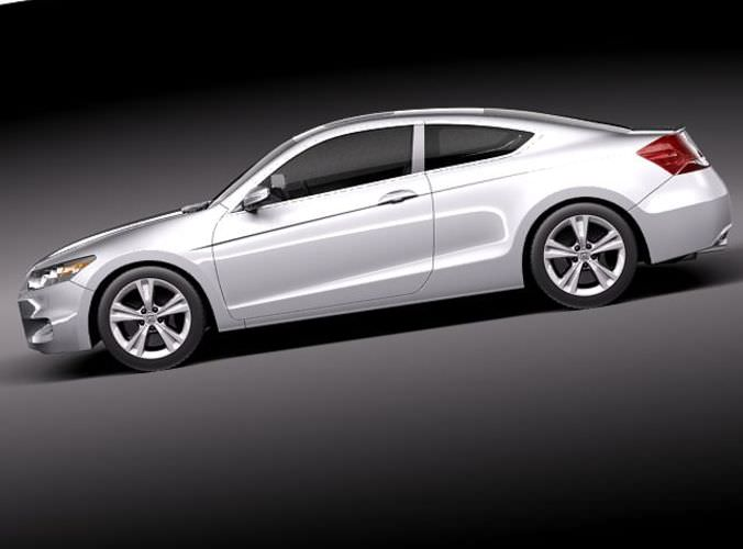 Honda Accord Coupe 2011 3D Model .max .obj .3ds .fbx .c4d .lwo .lw ...