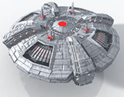 ALIEN MOTHERSHIP 3D Model