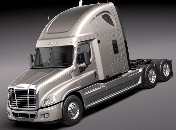 Freightliner Cascadia 2011 3D Model 3D Model MAX OBJ MTL 3DS