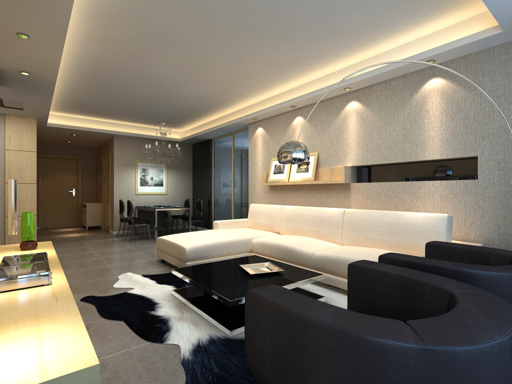 Awesome Posh Living Room Interior With Carpet 3d Model Max 1 ...