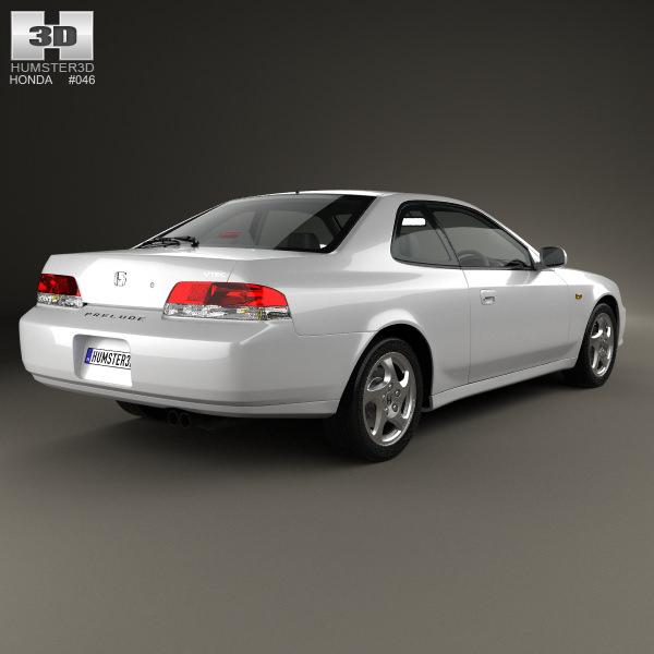Honda Prelude Bb5 1997 3D Models