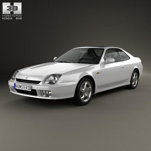 Honda Prelude Base Coupe 1997 2001 Oespectrum Strut: Honda Prelude Bb5 1997 3D Models