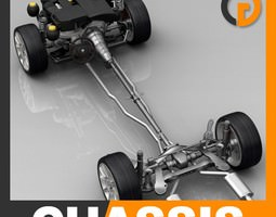 Chassis and Engine 3D Model