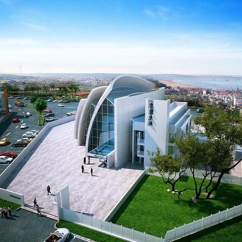 3D Modern Public Library