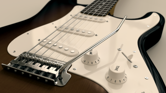 Electric Guitar Stand3D model