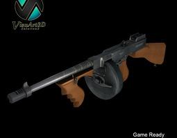 Tommy Gun Submachinegun 3D Model