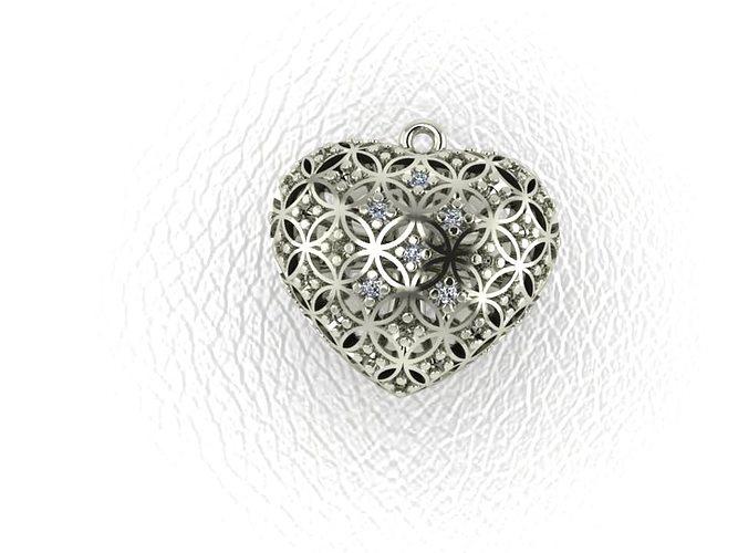 3D Print Model Pendant Heart STL