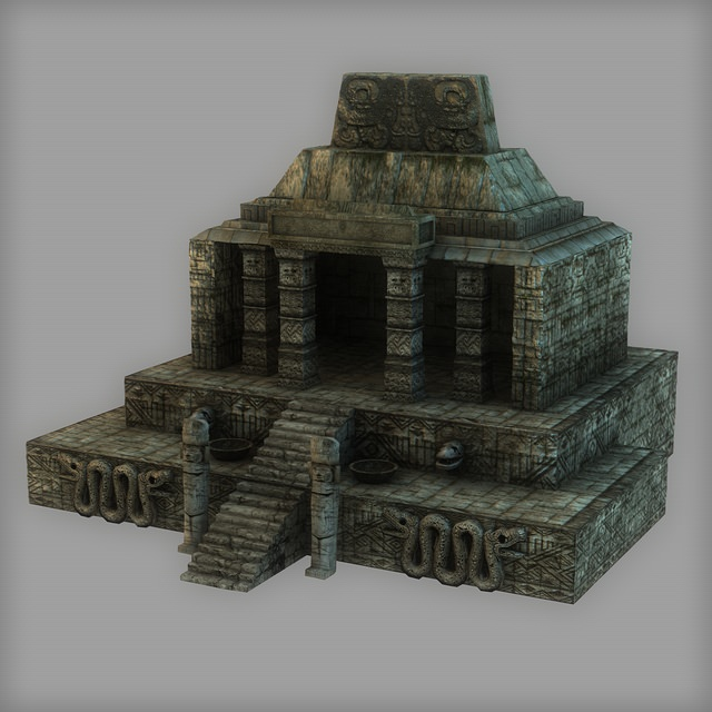 Low Poly Aztec Temple