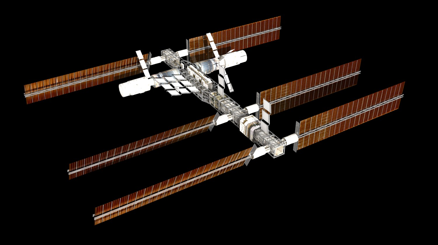 3d model international space station pics about space for Outer space 3d model