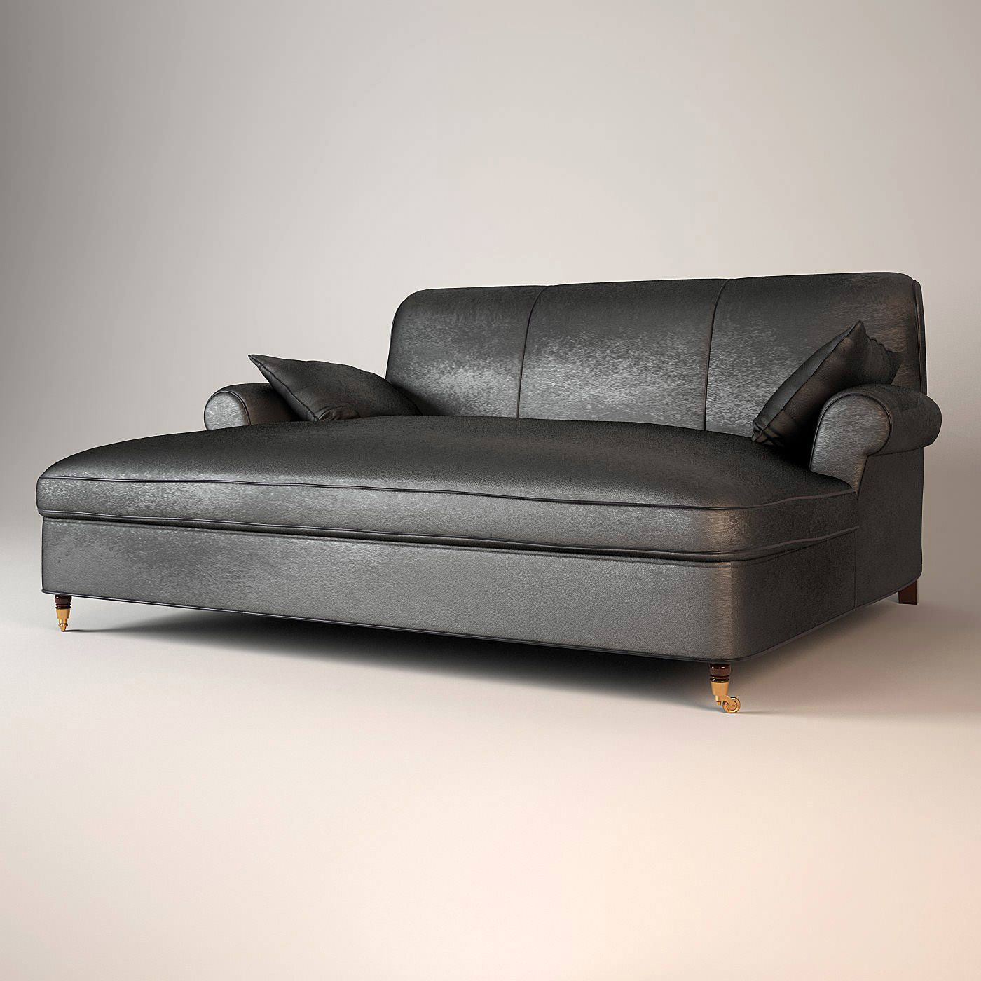 baxter sofa charlotte dormeuse 3d model max obj. Black Bedroom Furniture Sets. Home Design Ideas