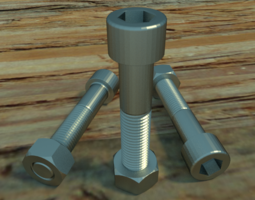 3D Nuts Bolts 56853