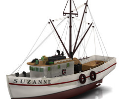 rigged shrimp boat poser vue 3d