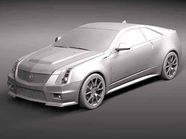 Cadillac Cts V Coupe 2011 3d Model Max Obj 3ds Fbx