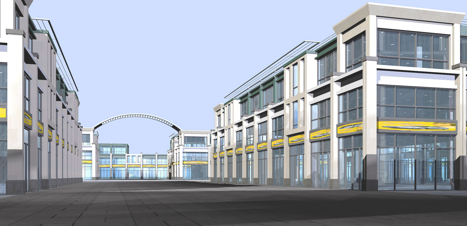 Modern shopping mall with exotic exterior 3d model max for Exterior 3d model