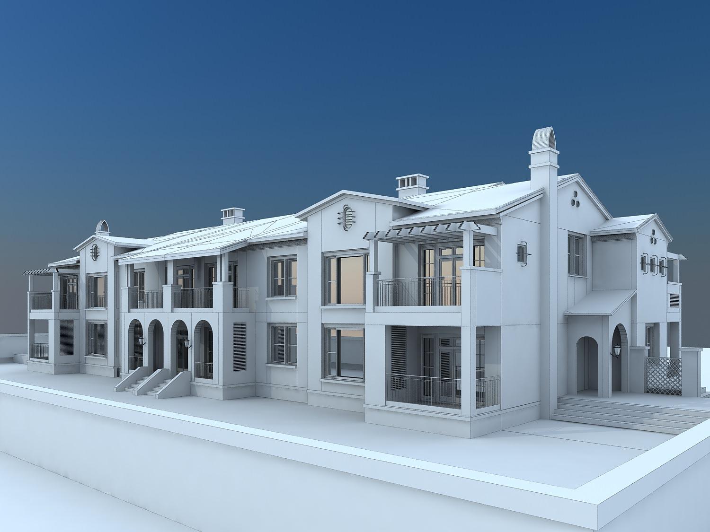 Holiday villas 3d model max for Villas 3d model