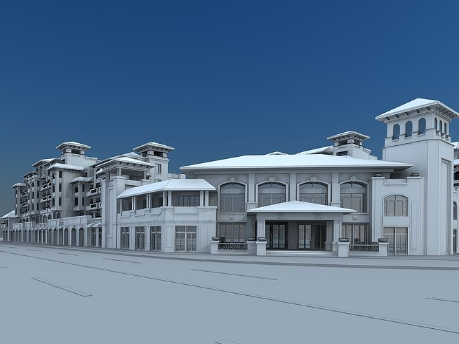 Holiday homes 3d model max Home 3d model