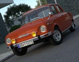 3D model Skoda 100 L 1970