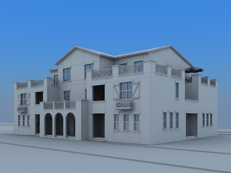 Villa house free 3d model max for Villas 3d model