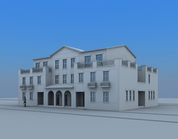 3D villa house house-interior