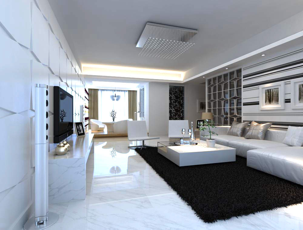 Living room interior design apartment modern max scene for All about interior design