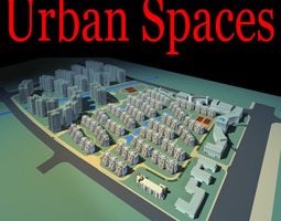 Urban City Design with Basketball Court 3D model