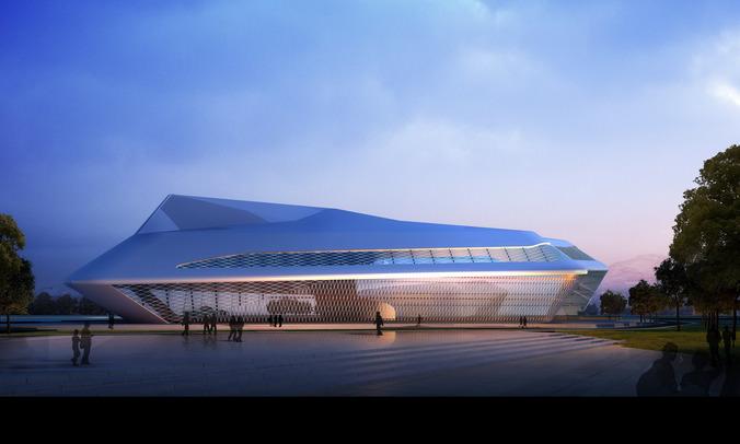 Stadium with Aristocratic Outline3D model