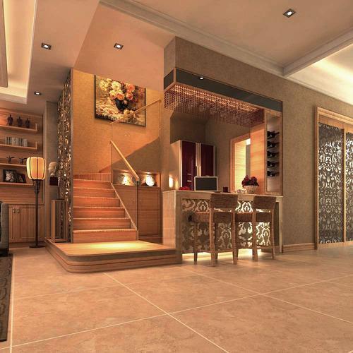 florid hall with posh interior 3d model max 1
