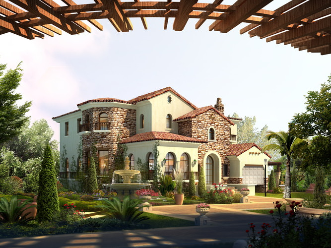 High-end Villa with Aristocratic Decor3D model