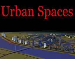 exquisite urban designed cityscape 3d model