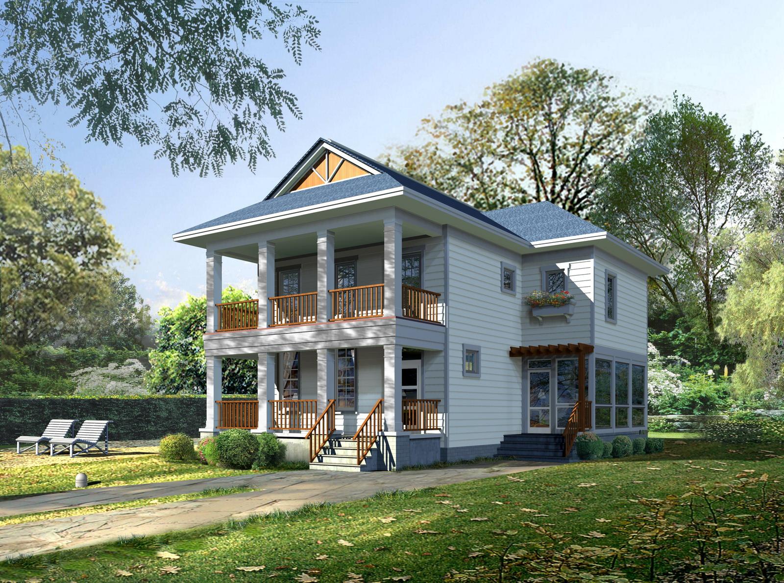Posh house exterior design 3d model max obj 3ds - 3d max models free download exterior ...