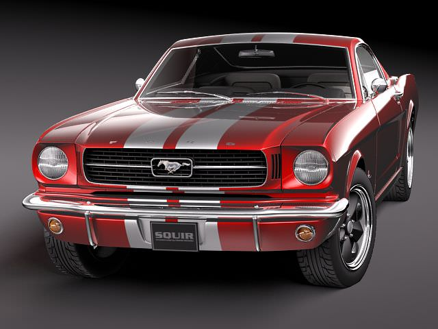 ford mustang fastback 1960s 3d model max 3ds. Black Bedroom Furniture Sets. Home Design Ideas