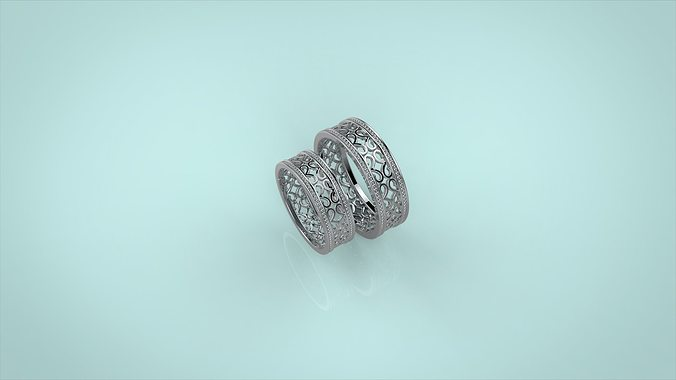wedding rings 3d model 3dm 1
