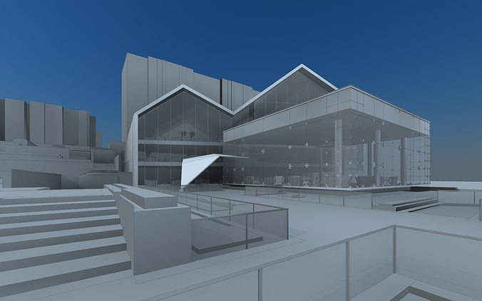 clubhouse 3d model max fbx 1