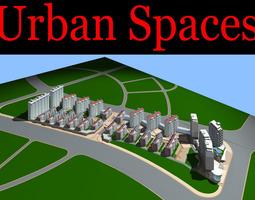 urban designed town with posh floor 3d