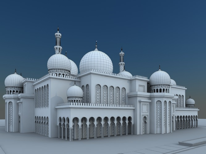 Mosque 3d model max for Mosque exterior design