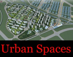 Urban Designed Town 3D model