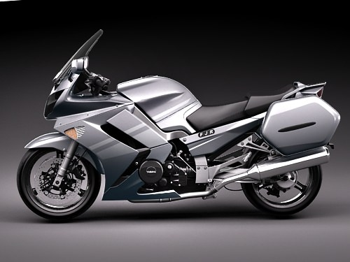 Yamaha FJR1300A 2009 3D Model .max .3ds