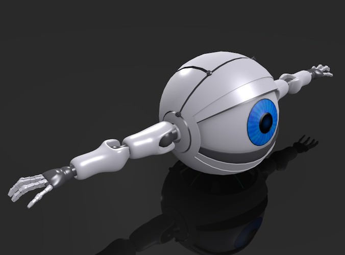 Commercial Truck Trader >> Spherical Robot / Android 3D Model .obj .blend- CGTrader.com