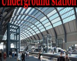 Posh Underground Station 3D