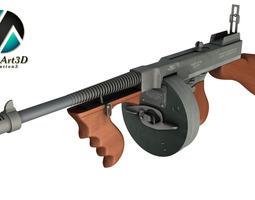 Tommy gun Machinegun 3D Model