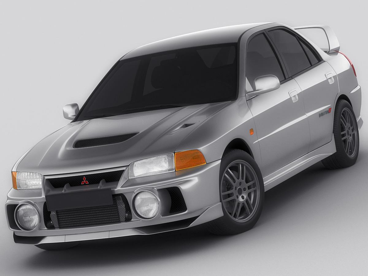 Mitsubishi Lancer Evo IV 3D model   CGTrader